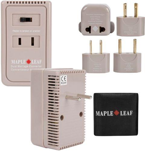 Maple Leaf Dual Watt Converter/Adaptor Plug Kit