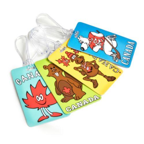 Maple Leaf Novelty Canadian Luggage ID Tag, Assorted