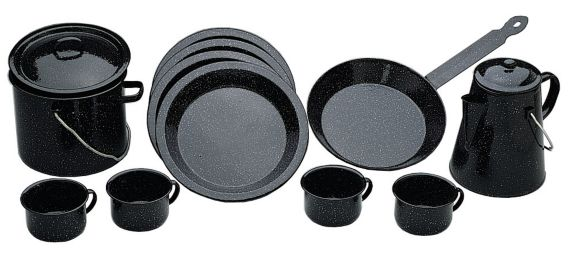 13-Pc Enamel Campware Set Product image