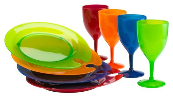 Picnic Wine and Plate Set, 9-Pc