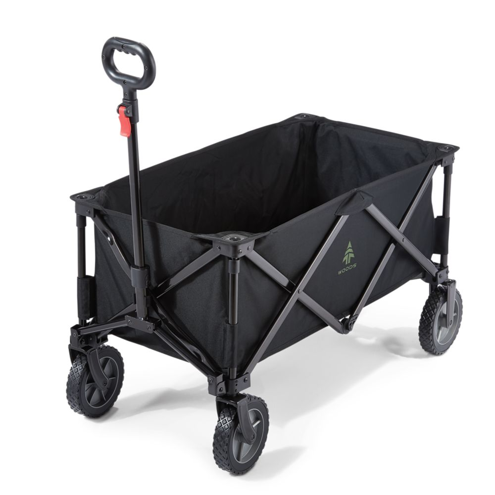Woods Outdoor Collapsible Utility Standard Wagon, Black
