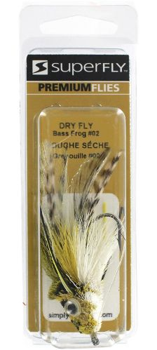 SuperFly Dry Fly Bass Frog Lure, #02