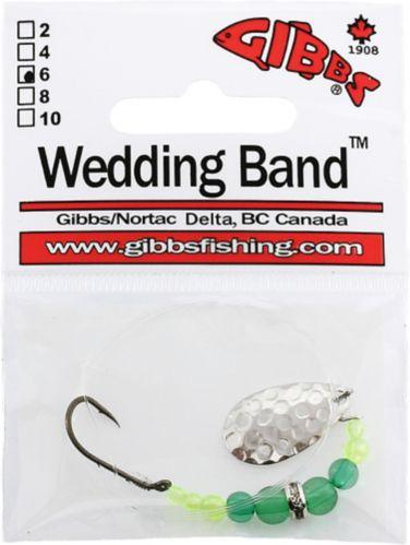 Gibbs Delta Wedding Band, #6, Single, Green Bead