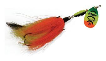 MEPPS Aglia Tandem Spinners Hot Orange//Black /& Orange 7//8 oz