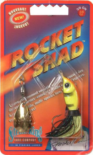 Leurre pour perche Strike King Rocket Shad, 3/8 po