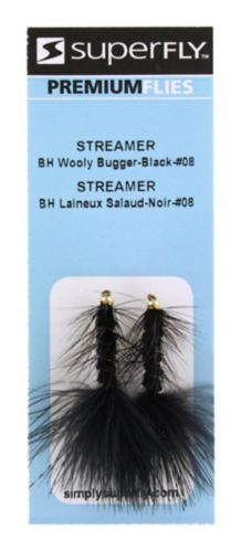 SuperFly Streamer, BH Wooly Bugger, #08