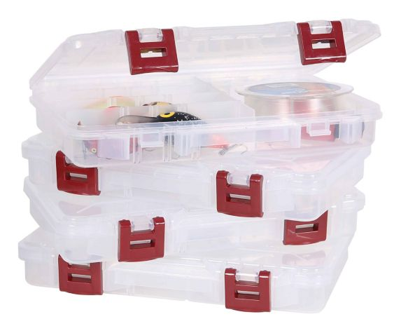 Plano 3650 Stowaway Storage Box,Value Pack, 4-pk