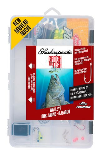 Shakespeare Catch More Fish Tackle Kit, Walleye