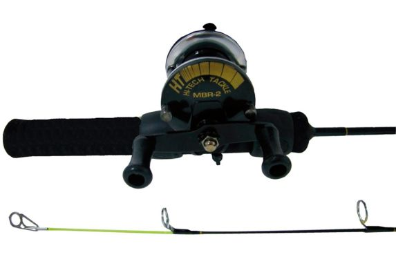 HT Iceman Baitcast Ice Fishing Combo, Medium, 24-in