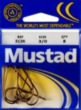 Mustad Kirby Ringed Hooks, Size 3/0, 8-pk | Mustad | Canadian Tire