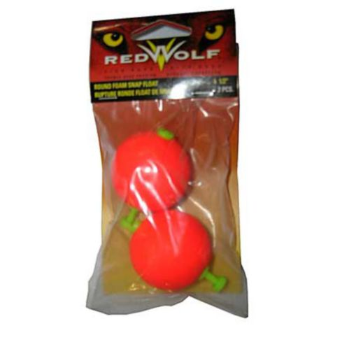 Red Wolf Round Foam Snap Float, 1.5-in