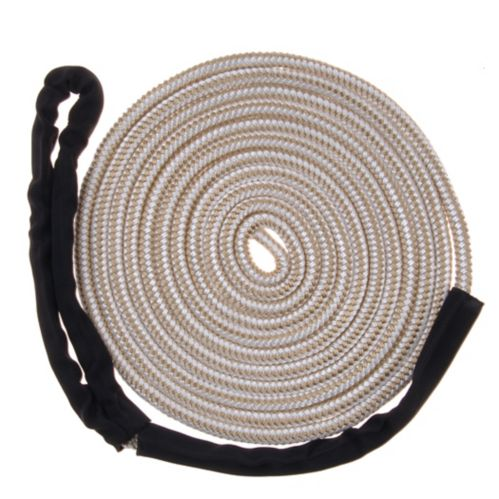 Mooring Boat Line with Chafe Guard, White, 1/2-in x 20-ft