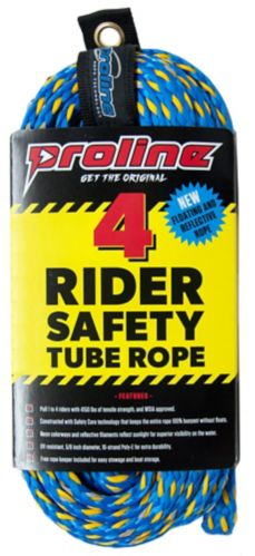 Proline Safety Tube Tow Rope, 4-Person, 60-ft