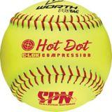 Balle de balle molle Worth Hot Dot SPN, jaune, 12 po | Worth | Canadian Tire