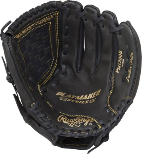 Rawlings Playmaker Baseball Glove, 12-in, Regular
