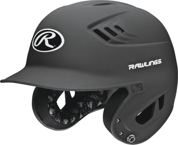 Rawlings Baseball Helmet, Matte Black, Adult