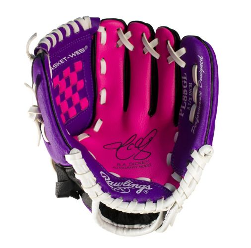Rawlings Baseball Glove, Youth, Pink, 8.5-in