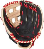 Rawlings Select Pro Lite Baseball Glove, Black/Tan/Red, Regular, 12-in | Rawlings | Canadian Tire