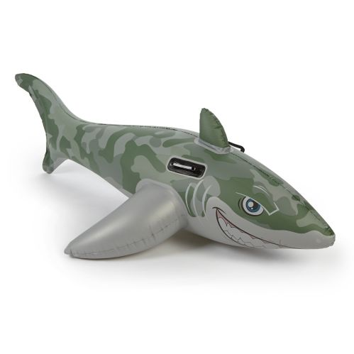 Camo Shark Ride-On Pool Toy
