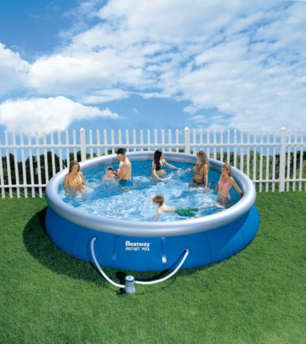 Bestway Hydro Soft-Sided Pool, 15-ft x 15-ft x 36-in