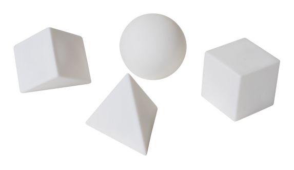 Formes géométriques flottantes illuminées à DEL GAME, varié