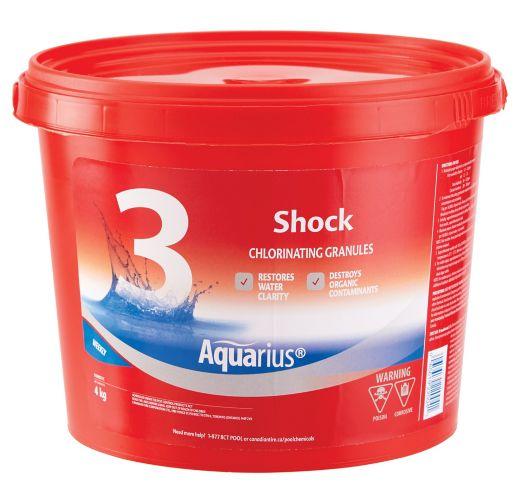 Aquarius Step 3 Shock Chlorinating Granules Water Treatment, 4-kg