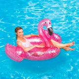 Flamingo with Glitter Confetti Inflatable Pool Float | Vendornull