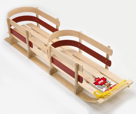 Wooden Twin Baby Sleigh