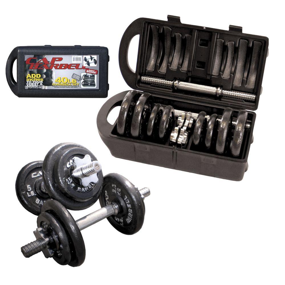 Cap Barbell Dumbbell Weights Set, 40-lb
