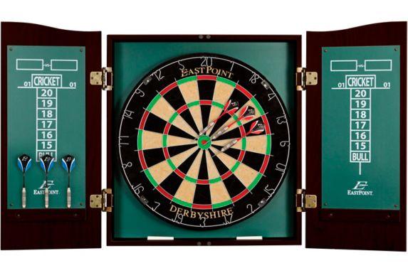 Derbyshire Bristle Dartboard & Cabinet