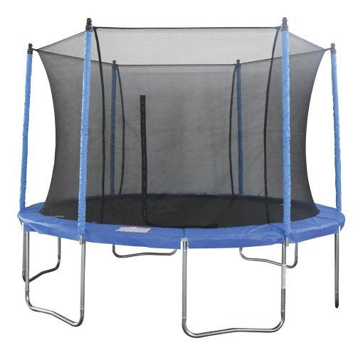 JumpTek Round Trampoline with Safety Enclosure, 14-ft