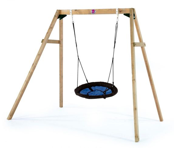 Plum Wooden Swing Set with Nest Product image