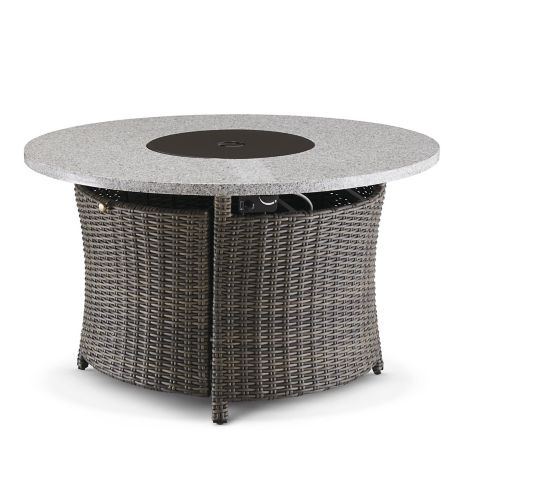 Canvas Summerhill Round Wicker Steel Gas Fire Table Canadian Tire