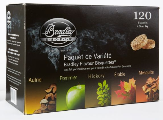 Bradley Smoker Bisquettes Variety Pack, 120-pk Product image