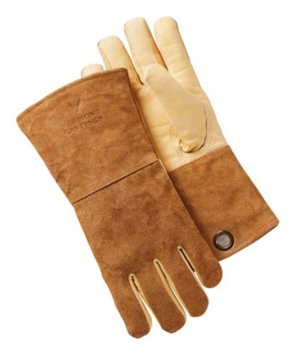 Vermont Castings High-Heat Leather BBQ Grilling Gloves Product image