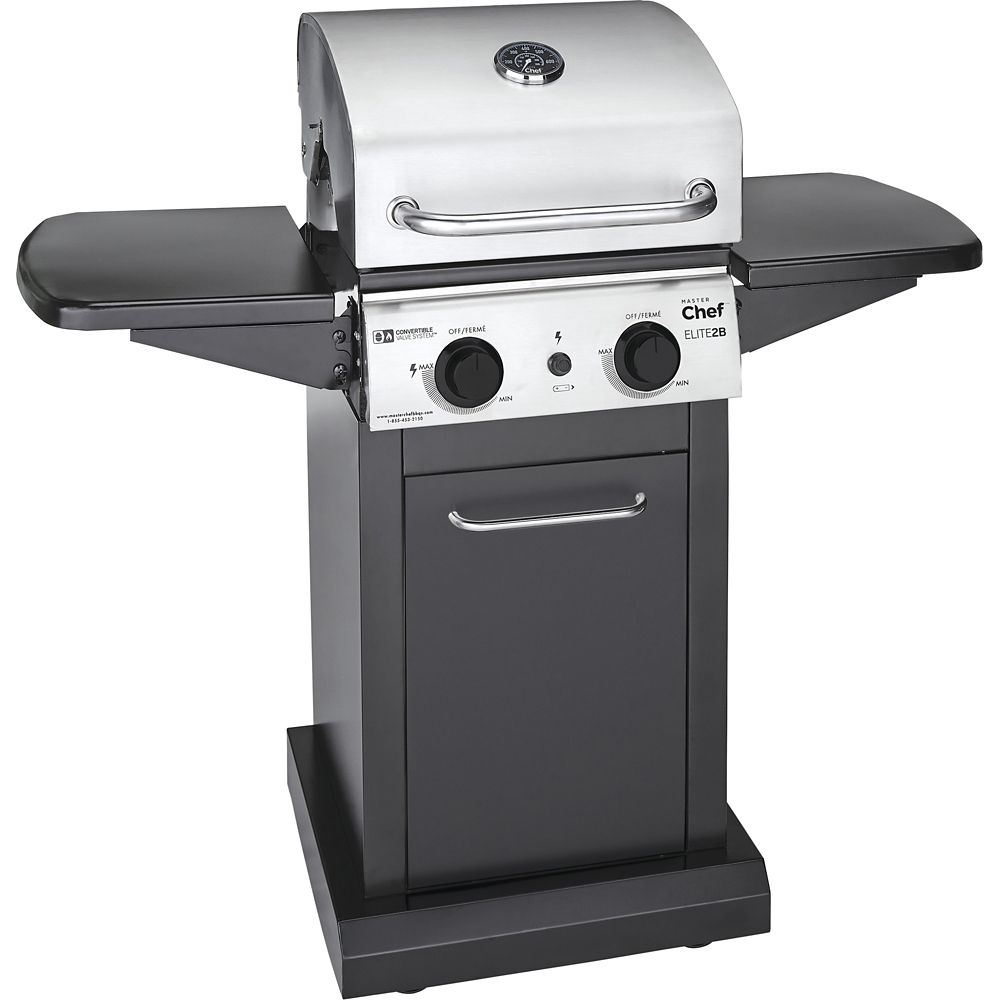 Master Chef Elite 2-Burner Convertible Propane BBQ G36402