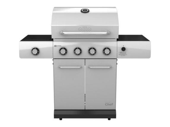MASTER Chef Elite 4-Burner Stainless Steel Propane BBQ