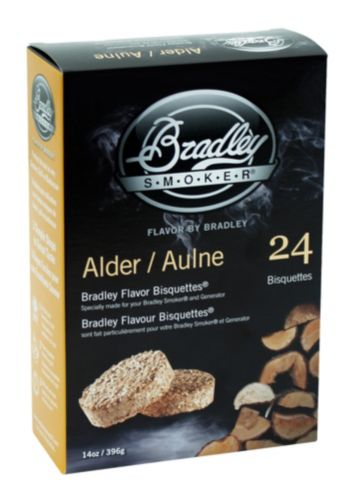 Briquettes pour fumoir Bradley, aulne, paq. 24 Image de l'article