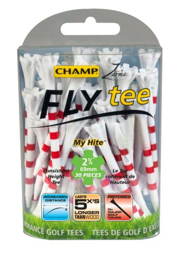 Tés Champ EZ Fly, 2 3/4 po, rouge et blanc, paq. 30 Image de l'article