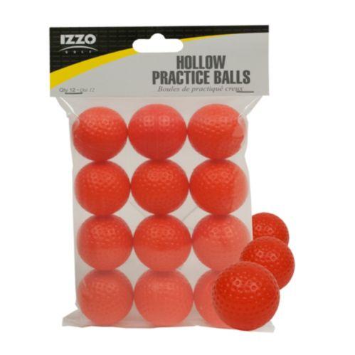 Balles d¿entraînement de golf Izzo, creuses, orange, paq. 12 Image de l'article