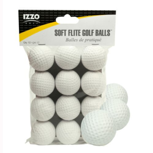 Izzo Soft Flite Practice Golf Balls, White, 12-pk Product image