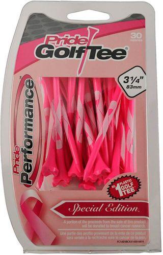 Tés de golf Pride Performance, rose cancer du sein, 3-1/4 po, paq. 30 Image de l'article
