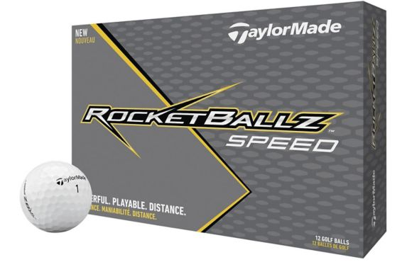 TaylorMade Rocketballz Speed Golf Balls, White, 12-pk Product image