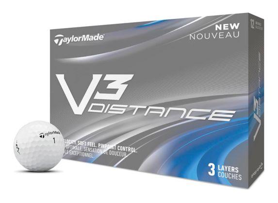 Balles de golf TaylorMade V3 Distance, blanc, paq. 12 Image de l'article
