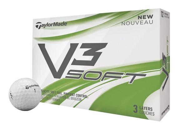 TaylorMade V3 Soft Golf Balls, White, 12-pk Product image