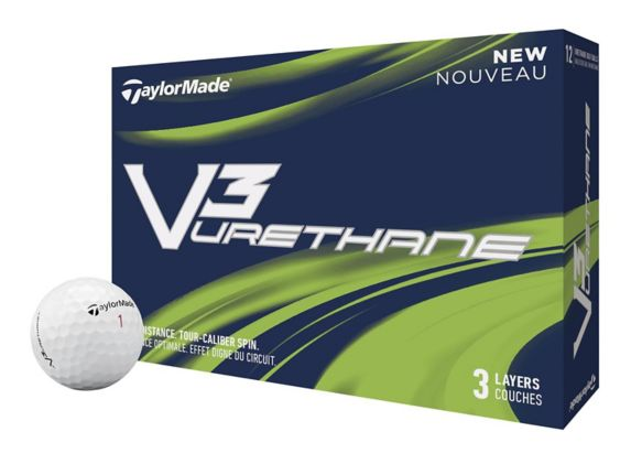 Balles de golf TaylorMade V3 Urethane, blanc, paq. 12 Image de l'article