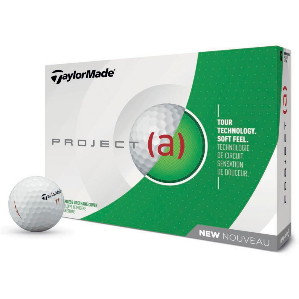 Taylormade Project (a) Golf Balls, White, 12-pk