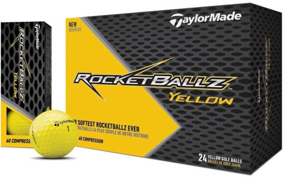 Balles de golf TaylorMade Rocketballz Soft, jaune, paq. 24 Image de l'article