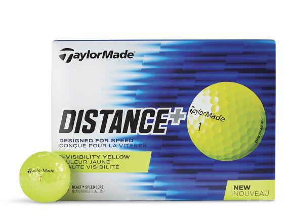 Balles de golf TaylorMade Distance+, jaune, paq. 12 Image de l'article