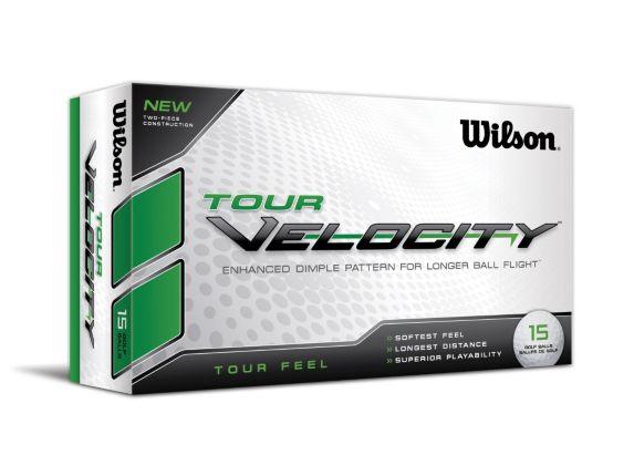 Balles de golf Wilson Tour Velocity Feel, blanc, paq. 15 Image de l'article